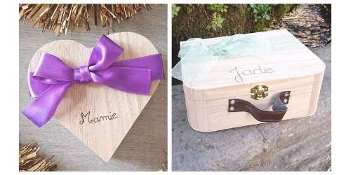 Emballage cadeaux en bois personnalisables - zéro déchet