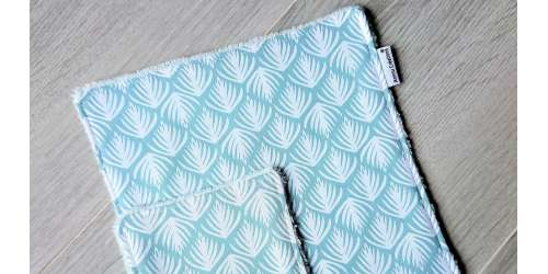 Lingettes lavables Oeko-Tex spéciales peaux sensibles, zéro déchet nomade